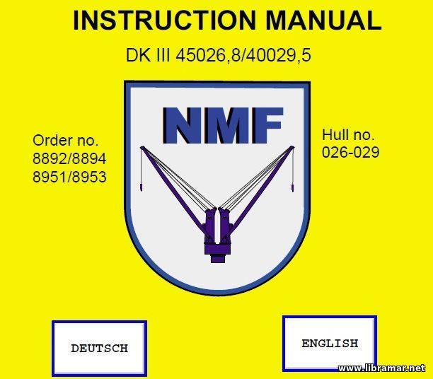 Libramar maritime downloads nmf crane dk iii 450268400295 instruction manual and addons sciox Gallery
